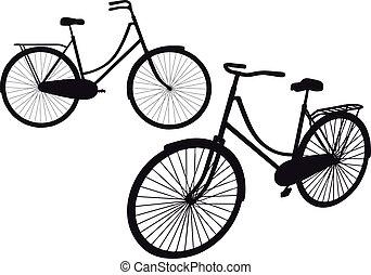 型, ベクトル, 自転車
