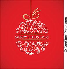 型, ボール, レトロ, 装飾, クリスマス
