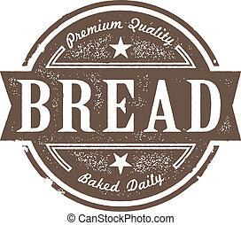 型, ラベル, 焼かれた, 新鮮なパン
