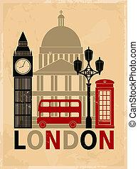 型, ロンドン, ポスター