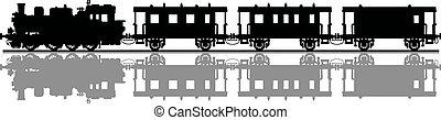 型, 列車, 蒸気