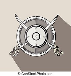 型, 剣, 交差点, 保護