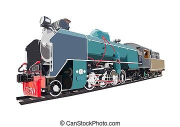 型, train., 機関車, 蒸気, 輸送