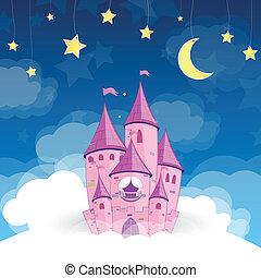 城, ベクトル, 夢, 王女