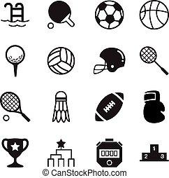 基本, シルエット, アイコン, シンボル, スポーツ, ベクトル