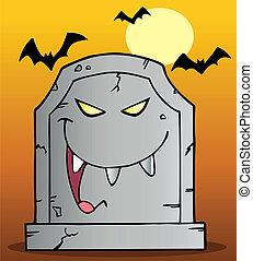 墓碑, マスコット, 笑い
