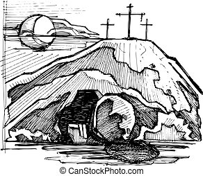 墓, キリスト, 空, イエス・キリスト