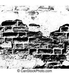 壁, グランジ, ベクトル