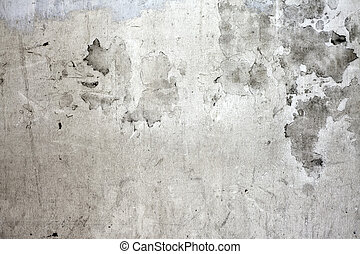 壁, コンクリート, 割れた, グランジ