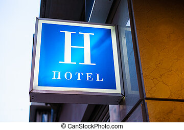 壁, ホテル, 印