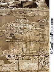 壁, 古代, 象形文字, エジプト人