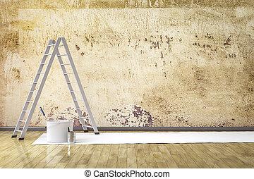 壁, 改装しなさい, 部屋
