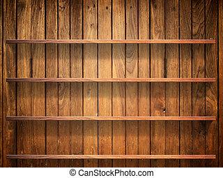 壁, 棚, 木