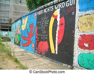 壁, 残物, ベルリン, ドイツ, potzdamer, platz