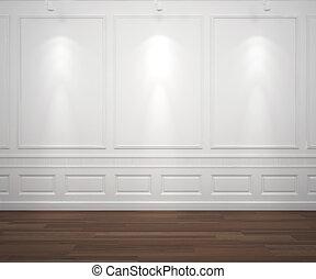 壁, 白, spotslight, classis