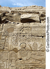 壁, 石, 古代, 象形文字, エジプト人