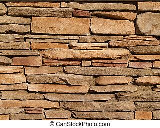 壁, 石, 層にされる