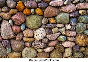 壁, 石, 背景, 多彩