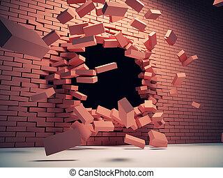 壁, 破壊