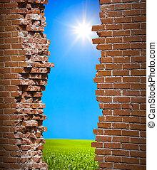 壁, 自由, 概念, breaken