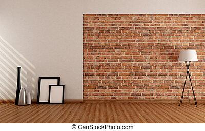 壁, 部屋, 空, れんが