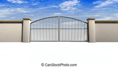 壁, 門, 閉じられた