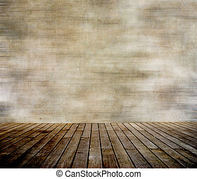 壁, paneled, 木, グランジ, 床