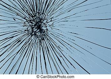 壊される, 窓ガラス