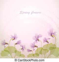 売りに出しなさい, 春, flowers., すみれ, backg