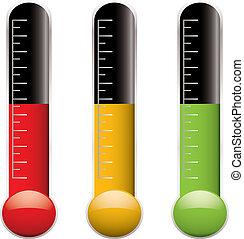 変化, 温度計