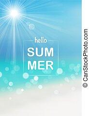 夏, こんにちは, 背景
