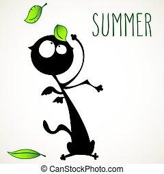 夏, ねこ