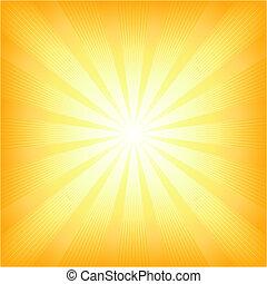 夏, 太陽, 広場, ライト 破烈