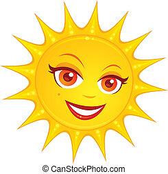 夏, 暑い, 太陽