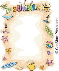夏, 背景, いたずら書き