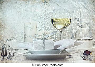 夕食, ホリデー, 設定, 銀, お祝い