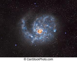 外の, らせん状の銀河, スペース