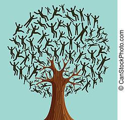 多様性, 木, 隔離された, 人々