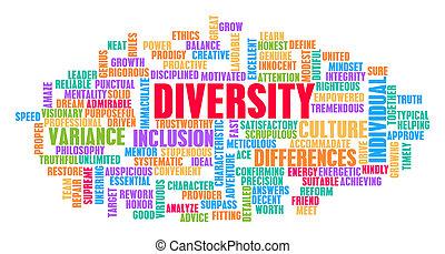 多様性, 概念, 単語, 雲