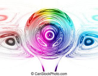多色刷り, デザイン, 抽象的, 背景, カラフルである