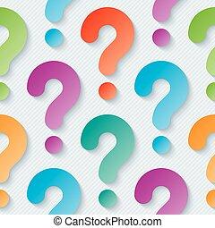 多色刷り, 質問, wallpaper., 印
