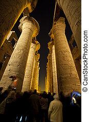 夜, 古代, 寺院, コラム, エジプト人