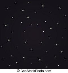 夜, 星, 光景