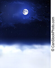 夜, dreams..., 月, ライト
