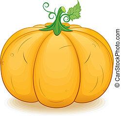 大きい, イメージ, ベクトル, ornage, pumpkin.