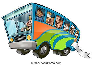 大きい, バス