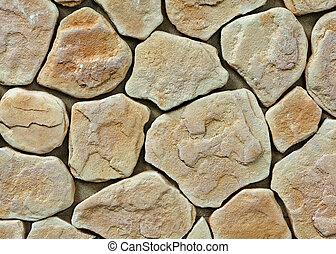 大きい, 壁, 石のきめ