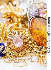 大きい, 宝石類, 金, コレクション