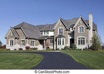大きい, 家, ヒマラヤスギ, 屋根
