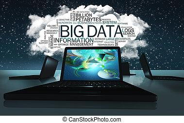 大きい, 用語, 雲, 単語, データ